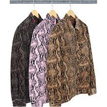 【美國鞋校】預購 SUPREME FW20 Snakeskin Corduroy Zip Up Shirt