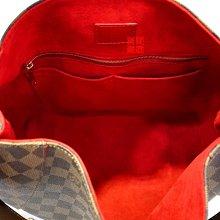 優買二手名牌店 LV 咖啡 棋盤 HOBO 格紋 N41555 肩背包 扁帶包 購物包 手提包 牛角包 水餃包 激新 I