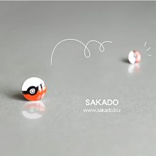 阪堂SAKADO熱縮水晶手工耳釘--寶可夢pokemon神奇寶貝球