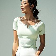 愛運動~露肩性感短袖運動休閒T恤/彈力修身顯瘦冷感降溫排汗速乾/跑步綜合訓練瑜珈健身短袖上衣  R3213