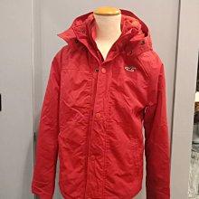 (雅峰精品) Hollister防風保暖外套/紅色/尺碼M號~最後一件