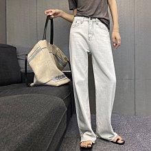 【UBY】特殊水洗白!薄款毛邊直筒牛仔褲◄No07109