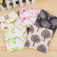 (吉賀)可愛清新棉麻衛生棉袋 衛生棉袋 衛生袋 零錢包 零錢袋 萬用袋 收納包 收納袋 萬用包