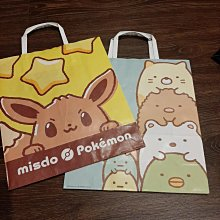 現貨 Mister Donut 寶可夢 角落生物 專櫃紙袋 禮物袋 環保袋 限量款色系 尺寸30x26x11CM 狀況良好如照片 可與其他紙袋合併運費