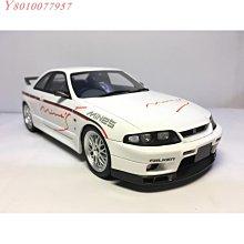 車百貨~OTTO Nissan Skyline GT-R R33 MineS GTR 1/18 1:18 東瀛戰神 OT824