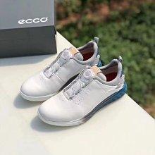 正品ECCO愛步高爾夫男鞋BOA鎖扭防水透氣戶外鞋S3 102914