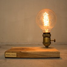 曙MUSE|原木色木紋長方形文青氣氛桌燈