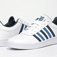 【E.P】K-SWISS COURT CHESTERFIELD 男款 白藍色 休閒鞋 05782-192