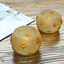 熱銷#可愛糖果色米珠馬賽克玻璃燭臺浪漫燭光晚餐婚慶裝飾道具送蠟燭#燭臺#裝飾