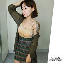 GW 復古墨綠色高腰窄裙短裙 包臀A字半身裙短裙 F尺寸 GUESSWHAT
