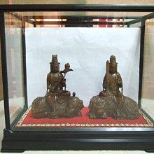 老黃楊木雕2尊(大智文殊菩薩,大行普賢菩薩)