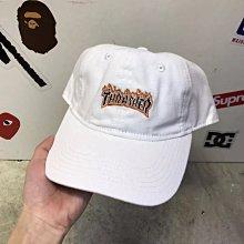 車車代購 潮牌新款潮牌帽Thrasher Flame Old Timer Hat火焰彎檐帽棒球帽鴨舌帽