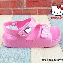 【琪琪的店】三麗鷗 HELLO KITTY 凱蒂貓 童鞋 女童 拖鞋 防水 涼鞋 水鞋 Q彈 勃肯造型 粉 818186