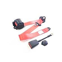 汽車三點式自動安全帶鎖扣紅色和黑色 遇見良品C43CFH