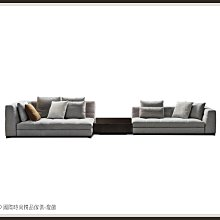 DD 國際時尚精品傢俱-燈飾Minotti Blazer(復刻版)一字布沙發2020新品(含茶几)