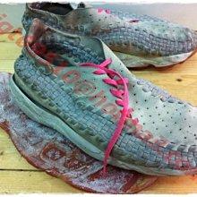 Nike Air Footscape Woven Chukka 灰粉紅 灰色 麂皮 編織鞋 側綁  藤原浩 陳冠希潮鞋三層重拆重黏