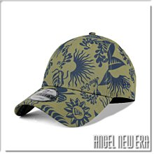 【ANGEL NEW ERA】NEW ERA 夏日 灌木叢花紋 透氣布料 叢林綠 老帽 9FORTY 鴨舌帽