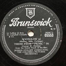"""電影""""野餐""""主題曲《Moonglow》78轉 10吋 蟲膠唱片 電木唱片"""