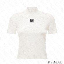 【WEEKEND】 ALEXANDER WANG Logo 合身 短版 上衣 T恤 白色