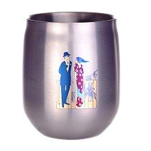 華順Adagio 400ml雙層鈦杯 99%純鈦 台灣製造 鈦寶石圖案 日本大正浪漫
