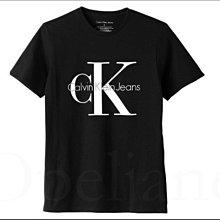 真品 Calvin Klein CK 卡文克萊黑色短袖潮T恤上衣棉短青少年款 XL號=大人 約S號 愛Coach包包