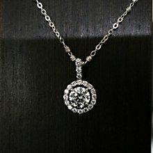 18k金項鍊韓版時尚9k金吊飾鑲1克拉高碳鑽八心八箭碎鑽微鑲真鑽鉑金質感整組特價鑽寶