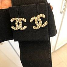法國康朋總店購買香奈兒Chanel水鑽耳環(已售出)