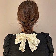 Maison de fleur  緞帶蕾絲超大蝴蝶結髮圈 髮束$290 Y52