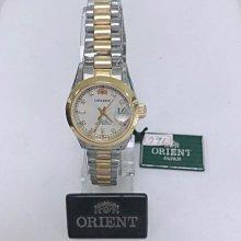 可議價 ORIENT東方錶 女 半金白面鑽錶 石英腕錶 (SE74F18S)