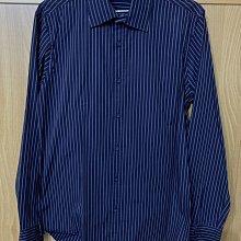 二手 班尼頓 BENETTON 襯衫 深紫色條紋 41號