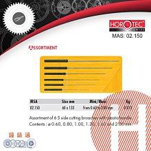 【鐘錶通】02.150《瑞士HOROTEC》多功能挫刀組 S  銼刀 0.6-2.0mm / 瑞士原裝├精密打磨修改┤