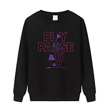 IU李知恩11周年PLAY PAUSE AND U演唱會周邊應援衣服圓領上衣(請註明顏色)