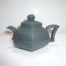 茶壺.紫砂壺.朱泥壺.手拉坯壺/施小馬製天青泥六方壺