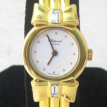 順利當舖 CHOPARD/蕭邦  原裝18K金蝴蝶結手鐲型女鑽錶