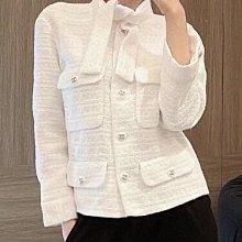 【妖妖代購】小香 21早春新款四口袋編織外套(兩色)