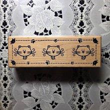 貝登堡印章 ~ G章(GT-4309)長框貓咪