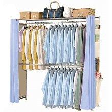 【中華批發網DIY家具】AH-07-(雙桿)伸縮防塵衣櫥-(側邊福袋)-(前罩2片)不織布