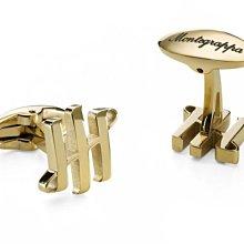 Montegrappa 萬特佳 AMBIGRAM Cufflinks Triple pillars 金色袖扣 IDA2C