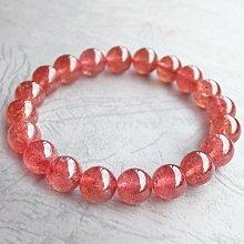 ☆采鑫天然寶石☆**陶醉@愛* 頂級草莓水晶(Strawberry Crystal)手鍊~極美~9.5mm