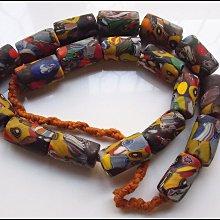 【雅之賞 藏傳 佛教文物】特賣*尼泊爾手工古法老琉璃16mm琉璃珠一串~504025