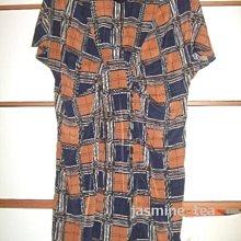 特價/I-81/USED<日本EXpressive 格柄短袖洋装/長版上衣>38