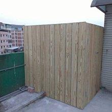 木地板~南方松L型立面圍籬含門片