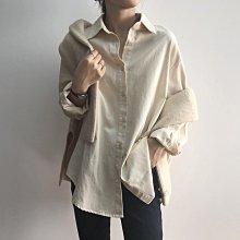 POLO衫 好品質100%純棉休閒百搭上衣 純棉前短後長袖口抓褶長袖襯衫 艾爾莎【TAE8696】