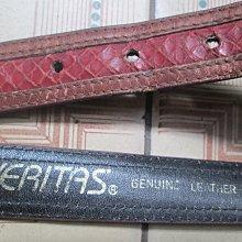 真皮皮帶~VERITAS--GENUINE LEATHER品牌(28吋含以下腰圍適用..全長30吋).背面有使用痕跡