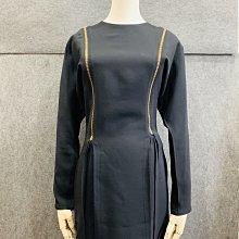【哈極品】未使用品《VERSACE 凡賽斯 黑色長袖 連身洋裝 38號》