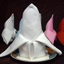 居家家飾設計 餐巾 口布 100%純棉系列 45*45cm  白