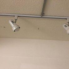 復古軌道投射燈 白色 適用 E27 LED 燈泡 螺旋(買7座送LED燈泡) 共7 座