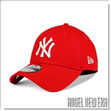 【ANGEL NEW ERA】NEW ERA MLB NY 紐約 洋基 活力紅 銀灰字 老帽 9FORTY 鴨舌帽