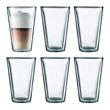 丹麥 BODUM CANTEEN  6入 400ml /13.5 oz  雙層 隔熱 玻璃杯 咖啡杯  原廠盒裝