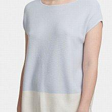 全新有牌美國品牌DKNY 大尺碼藍白對比撞色休閒短袖上衣 XL號